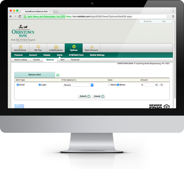 Online Banking › Orrstown Bank