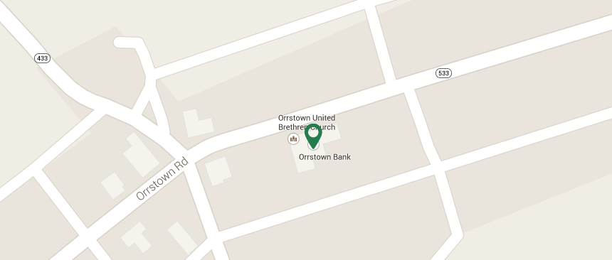 Map to Orrstown Branch