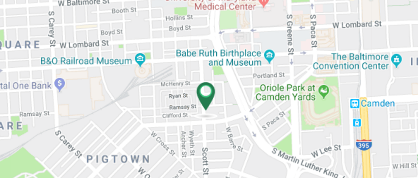 Map around Pigtown branch