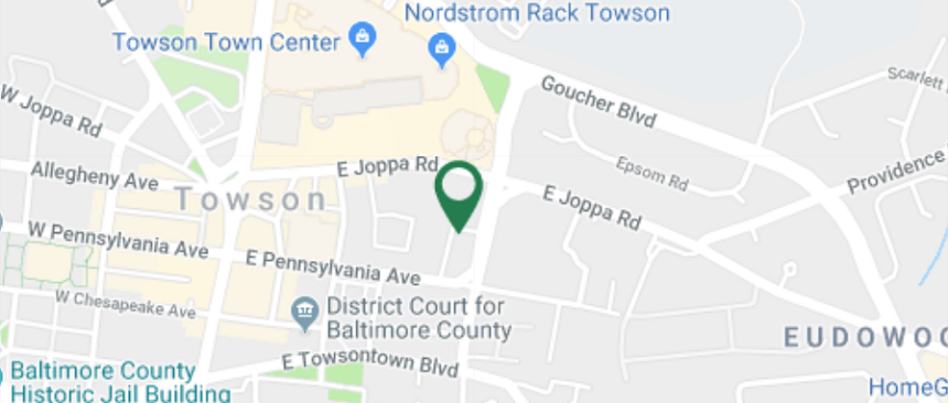 Map around Towson branch